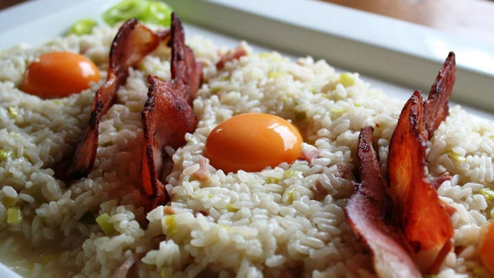RISOTTO_with_PANCETTA_BACON_and_EGGS